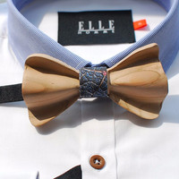 Hand-Carved Straight Bow Tie
