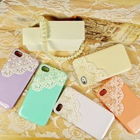 Lace with Pearl Case iPhone 4/4S from Hallomall
