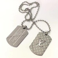 LV Louis Vuitton Men Fashion Necklace Jewelry