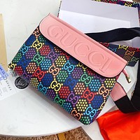 GUCCI Pop Candy Series Women Men Personality Leather Shoulder Bag Crossbody Satchel