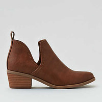 AEO Cutout Ankle Bootie, Brown