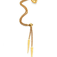 Draped Cuff-and-Stud Earring
