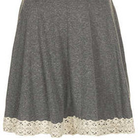 Grey Lace Hem Skater - New In This Week - New In - Topshop USA