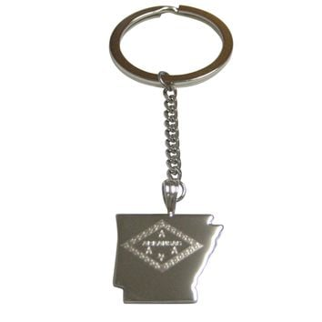 Vermont State Map Shape Pendant Keychain