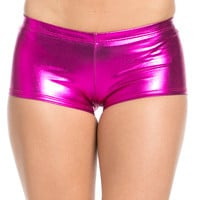 Faux Booty Shorts Pink