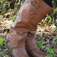 Buckle Up And Ride Boots: Cognac