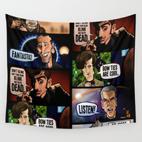 New Who Wall Tapestry by BinaryGod.com