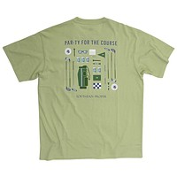 Par-ty For The Course Tee in Moss by Southern Proper