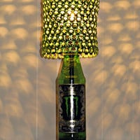 Monster Energy Ubermonster Bottle Lamp With Lime Green Anodized Tab Lampshade - The Perfect Guy Gift