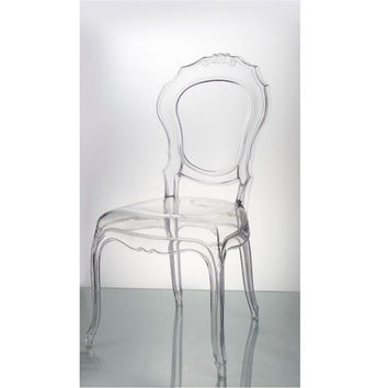 Traditional Dining Chair in Clear