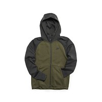 Nike Men's Sportswear Tech Fleece Full Zip Hoodie Olive Green Gunsmoke Grey