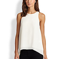 Elizabeth and James - Everly Pleated-Back Hi-Lo Top - Saks Fifth Avenue Mobile