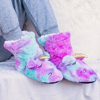 Rainbow Unicorn Women's Slippers