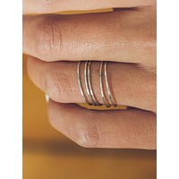 5 Hammered Stacking Rings