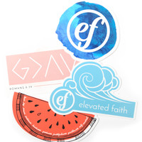 Elevated Faith Sticker Pack