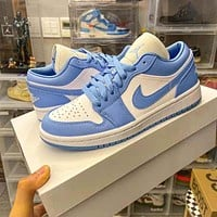 NIKE Air jordan AJ1 colorblock low-top sneakers Shoes