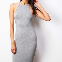 Ribbed+Halter+Dress