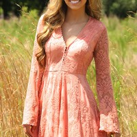 Life Rolls On Dress: Blush - Sexy - Dresses - Hope's Boutique