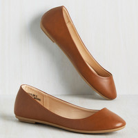 Skimmer Me Timbers Flat in Chestnut | Mod Retro Vintage Flats | ModCloth.com