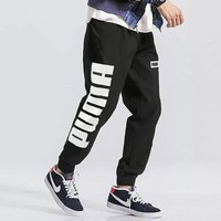 Puma spring men's trousers new knit sport casual breathable running leg slacks