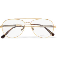 Bottega Veneta - Aviator-Style Metal Optical Glasses