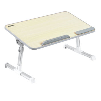 "Laptop Bed Tray Table Nearpow Adjustable Laptop Bed Stand Portable Standing Table with Foldable Legs Foldable Lap Tablet Table for Sofa Couch Floor 20.5""x11.8""x2.32"""