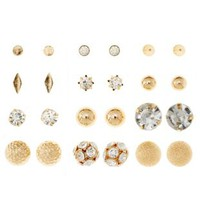 Classic Stud Earrings - 12 Pack by Charlotte Russe