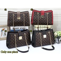 LV Hot Selling Lady Coloured Gold Chain Single Shoulder Bag Shopping Bag