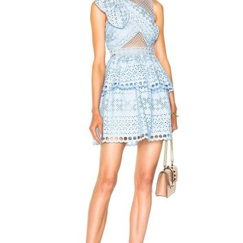 Ariella Shoulder Knot Lace Mini Dress