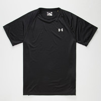 Under Armour Mens Tech Tee Black/White  In Sizes