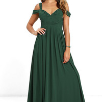 Make Me Move Forest Green Maxi Dress
