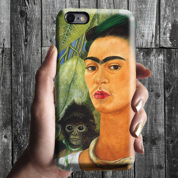 Self-Portrait with Monkey Frida KahloiPhone Case 6, 6S, 6 Plus, 4S, 5S. Phone Cell. Art Painting. Gift Idea. Anniversary. Gift for him/her