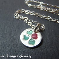 Four Leaf Clover necklace Lucky in Love Eco friendly jewelry lucky charm