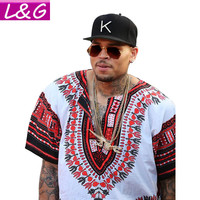 Traditional African Ching s Shirt s Classic Bazin Riche Dashii s Plus Size n Print Blouses 10716