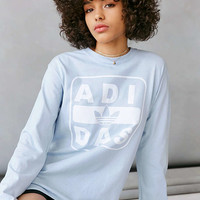 adidas + UO Long-Sleeve Stenciled Logo Tee - Urban Outfitters