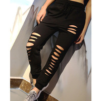 Women Loose Sport Suit Fitness Professional Sportswear Stretch Exercise Yoga  Trousers Pants Legging _ 6825