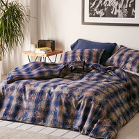 Overdyed Flannel Duvet Cover - Urban Outfitters