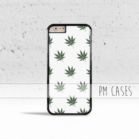 Marijuana Weed Leaf Pattern Case Cover for Apple iPhone 4 4s 5 5s 5c 6 6s Plus & iPod Touch