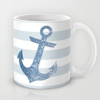 GLITTER ANCHOR IN BLUE Mug by colorstudio