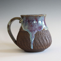 Unique Coffee Mug, 14 oz, handmade ceramic cup, handthrown mug, stoneware mug, pottery mug unique coffee mug ceramics and pottery