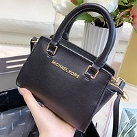 MK New Fashion Leather Shopping Leisure Shoulder Bag Handbag Crossbody Bag Black