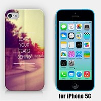 for iPhone 5C - Leave Your Fears Behind - Bible Verse - Inspirational Quote - Motivational Quote - Ship from Vietnam - US Registered Brand