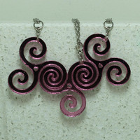 Spiral Linking pendants or key chains 2-6 piece set Best friend jewelry Pick your color Mirrored Acrylic