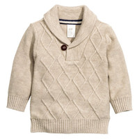 H&M Shawl-collar Sweater $19.99