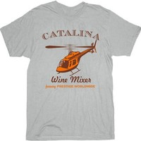 Step Brothers Catalina Wine Mixer Ice Grey Adult T-shirt Tee