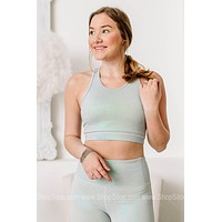Well Holo There Cut Out Back Sports Bra