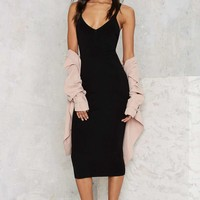 Knock You Out Midi Bodycon Dress