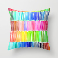 Prismatic Rainbow Throw Pillow by Morgan Ralston