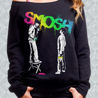 Graffiti Rainbow Off-the-Shoulder Sweatshirt - Smosh - Official Online Store on District LinesDistrict Lines