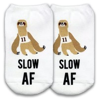 Slow AF Sloth No Show Socks - Available in 3 sizes